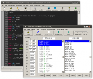 Emu8086 4.08 screenshot